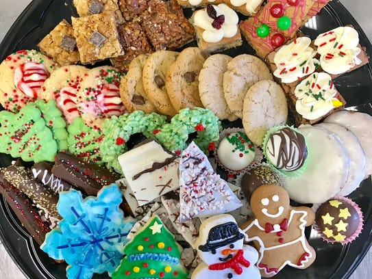 An assortment of cookies and bars for the holidays