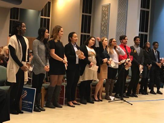 Student merit award winners selected by the MLK Birthday