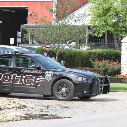 Newtown police assisted in Tuesday morning's raid.