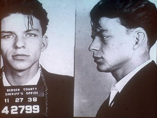 "Frank Sinatra was arrested and charged in 1938 for ""carrying on with a married woman."" The charge was later dropped."