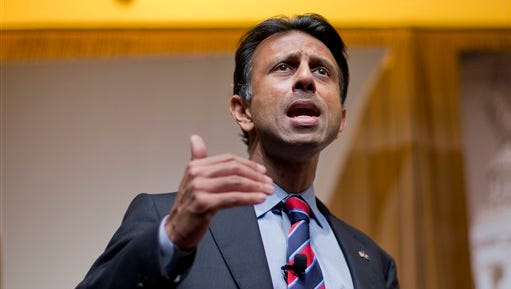 FILE - In this June 19, 2015, file photo, Louisiana Gov. Bobby Jindal speaks at the Road to Majority 2015 convention in Washington. Jindal appears ready to launch a long-shot campaign for the Republican presidential nomination that rests on courtship of evangelical Christians and his reputation as a man of ideas. The 44-year-old, two-term governor begins without the national prominence of rivals such as Florida Sen. Marco Rubio and former Florida Gov. Jeb Bush, who are among a dozen contenders for the nomination in a highly competitive pack. (AP Photo/Pablo Martinez Monsivais, File)