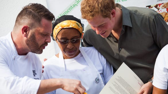Prince Harry meets chefs