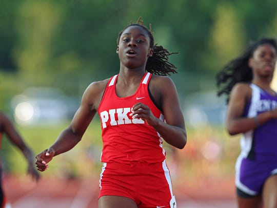 Pike senior Lynna Irby broke the regional record for the 100 meter dash in a time of 11.78 seconds during IHSAA girls track and field regionals at Ben Davis on May 24.