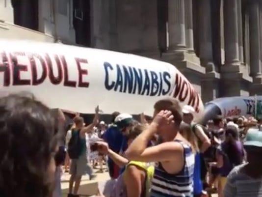 POT PROTEST DNC