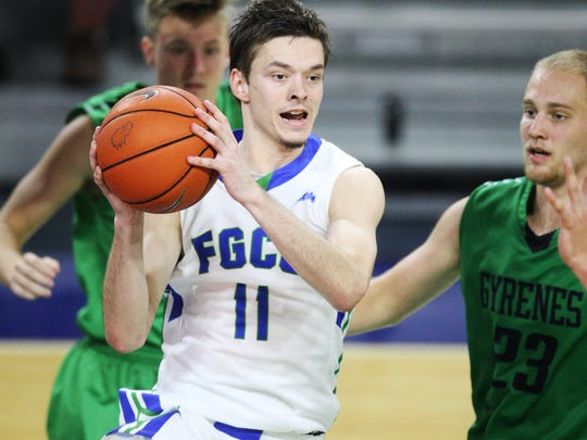 FGCU sophomore Christian Terrell, pictured against Ave Maria, is second on the team with 14.2 point a game.