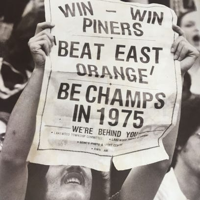 This fan at Brookdale for the 1975 NJSIAA Group III