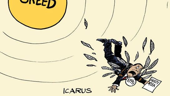 Icarus fell because his hubris. Corrections Commissioner