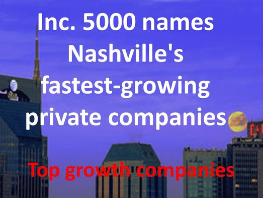 Nashville's fast growing private companies