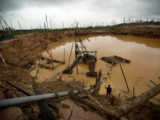 Peru's gold mines killing rain forest