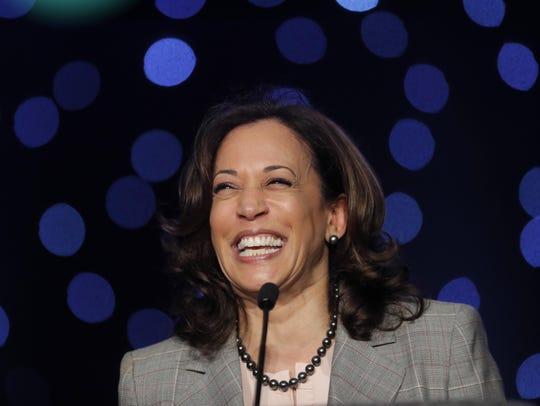 Democratic presidential candidate Sen. Kamala Harris,