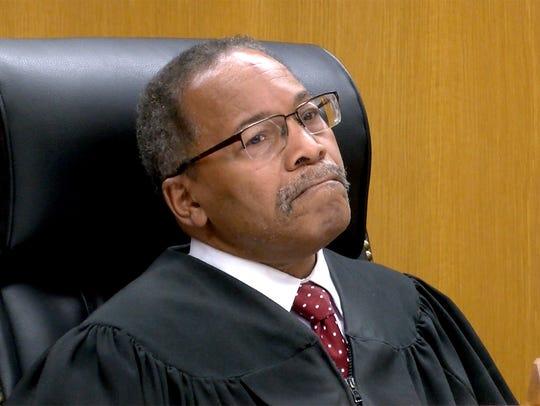 State Superior Court Judge Wendel E. Daniels presides
