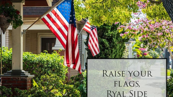 In lieu of the traditional 4th of July festivities, Ryal Side residents are encouraged to decorate their houses with flags in order to show their pride and patriotism.