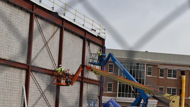 Construction is under way on the new B.M.C Durfee High School.