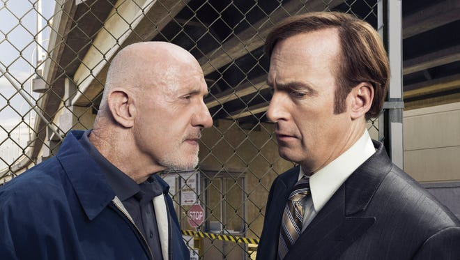 Jonathan Banks, left, and Bob Odenkirk star in AMC's 'Better Call Saul.'