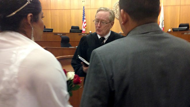 County Superior Court Judge Henry Walsh solemnized a marriage last year before the ban took effect.