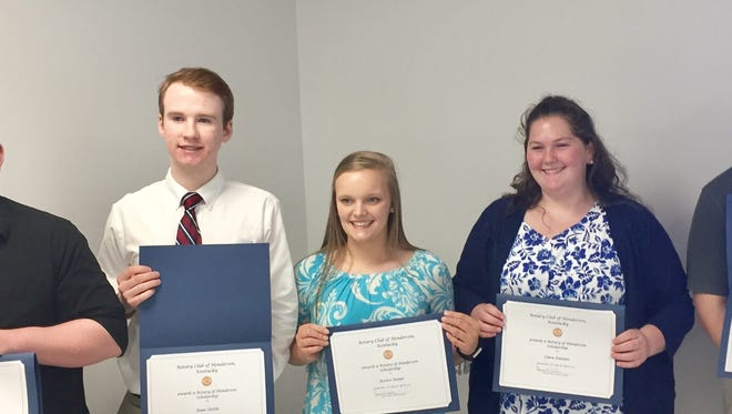 From left, Chance Patmore,  Isaac Oettle, Jessica Stoner, Cara Daniels and Drew Reid.