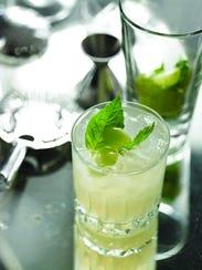 Grape basil martini