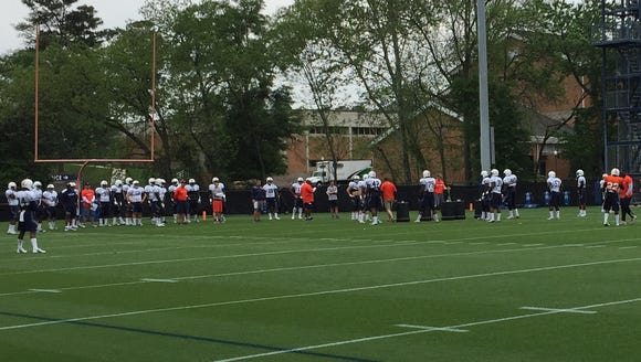 Auburn held its twelfth spring practice Tuesday.