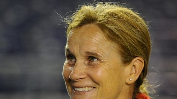 Jill Ellis, 47, who has been with U.S. Soccer since 2000 was announced Friday as the eighth coach in the history of the U.S. women's soccer team.