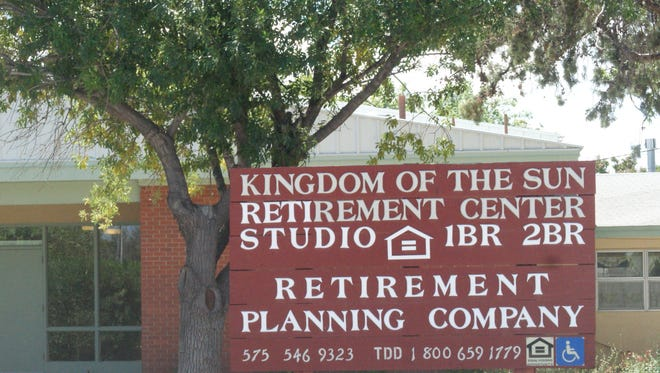 The official entrance to the Kingdom of the Sun retirement center on Buckeye Street between Granite and S. 8th Streets.