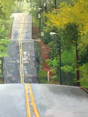 Art Alley's Upstairs and Big Room galleries will feature the works of both residents and guest artists, such as Julie Crews.