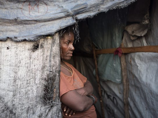 Bienese Auguste, 47, lost the home she shared with