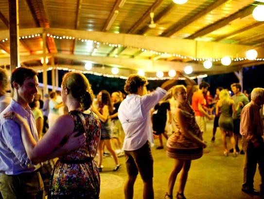 The free Big Band Dancing at Centennial Park is fun
