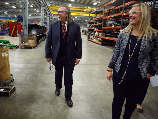 Steve Sukup, CFO of Sukup Manufacturing, and his daughter