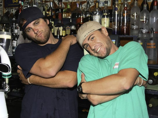 Greg Plummer (left) and Cohen Sade bartending at Hammerheads in Dewey Beach in 2010. Plummer is now the owner of the new Dewey Beach Country Club.