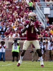 Florida State freshman quarterback James Blackman (1)