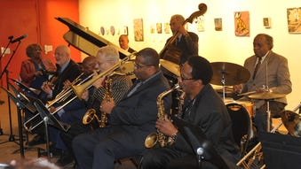 Harlem Blues and Jazz Band during a recent performance.