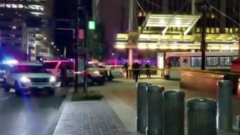 Cincinnati Police said one person is in custody after firing shots at police Wednesday night downtown.