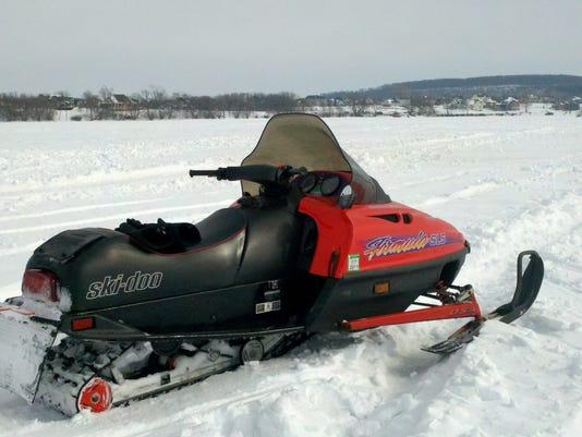 Snowmobiling