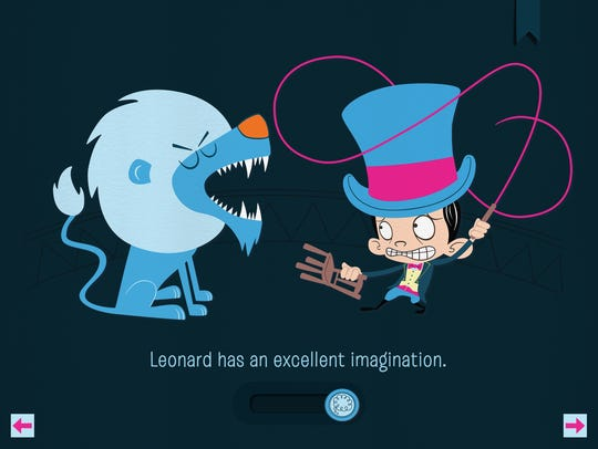 Readers control the appearance of Leonard's imagination