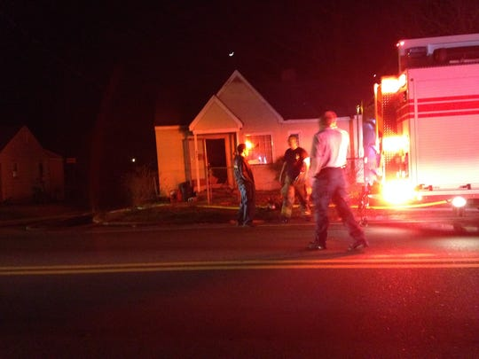 Authorities are investigating a suspicious fire outside