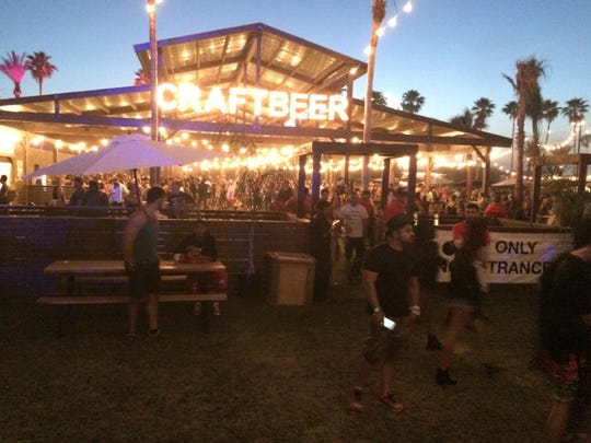 Craft Beer garden at Coachella Valley Music and Arts Festival.