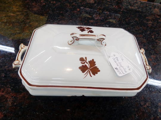 Tea Leaf ironstone by Alfred Meakin from the 19th century has become difficult to find.