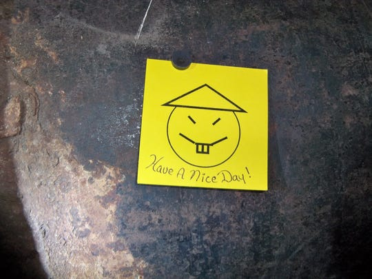 The note left behind at Clinton Correctional Facility.