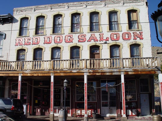 Virginia City's Red Dog Saloon is pictured in this undated photo.
