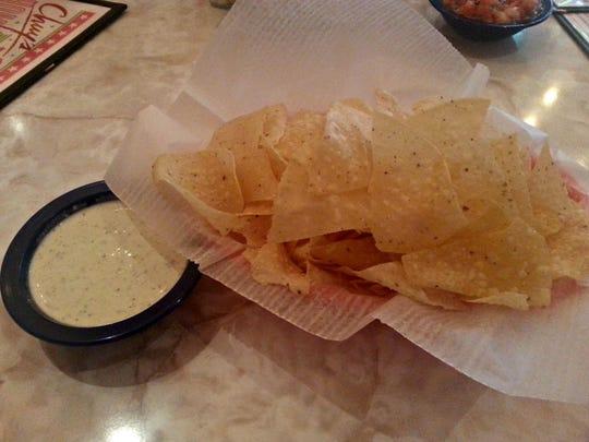 Creamy jalapeño dip at Chuy's.