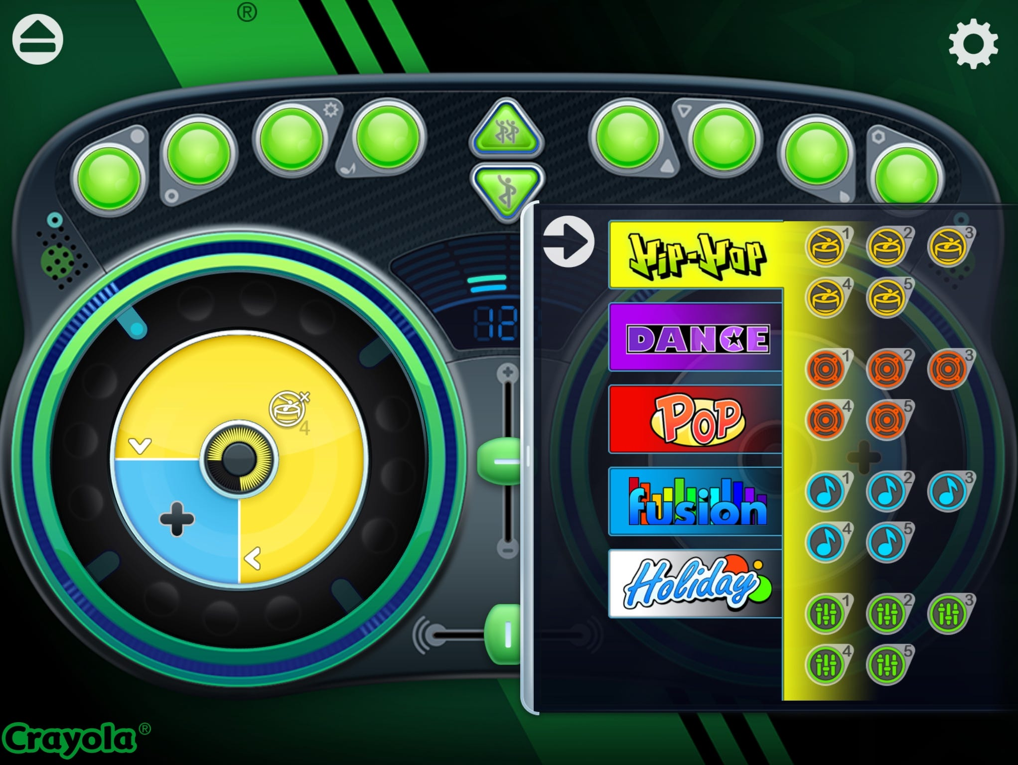 Kids become music mixing masters in Crayola DJ as they learn to mix musical tracks, scratch and add sound effects.