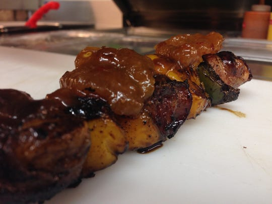 Broaddus Burgers offers off-menu duck kabobs during November and December.