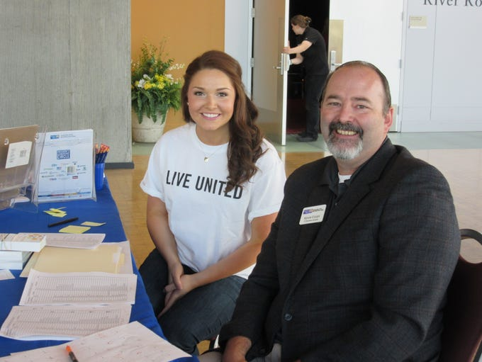 Abigail Hoppe and Kevin Couey at the United Way Community