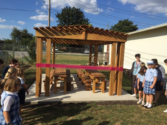 Rachel Davis' outdoor classroom will give students a place to enjoy the outdoors as they learn.