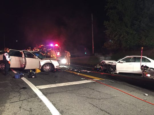 One person was seriously injured in a two-car crash on Route 202 in Ramapo early Wednesday morning, police said.