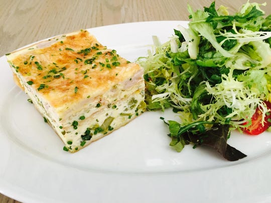 Quiche is on the lunch menu at Avenue in Long Branch.