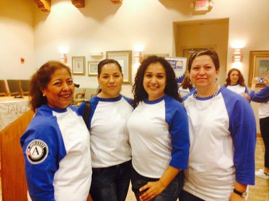 Micaela Arellano, left, Isela Preciado, Karen Leon and Gabriela Solano.