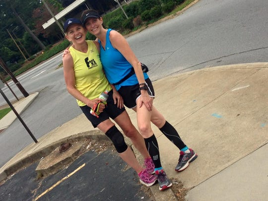 Mary Koppenheffer and Marelene Clevenger, runners from Asheville, competed in the NYC Marathon on Nov. 1.