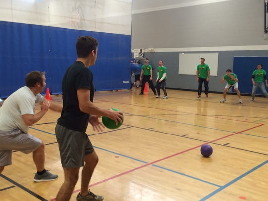 The Longfellow Ultimatum dodgeball team competes with