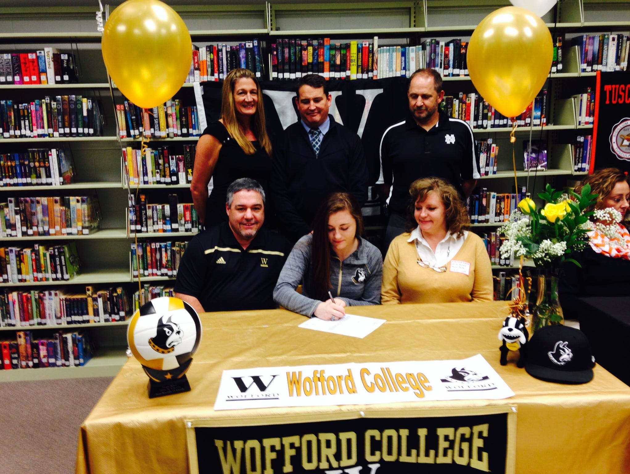 North Buncombe senior Morgan Ballard has signed to play college volleyball for Wofford.